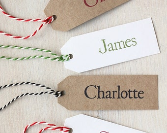 Personalised Gift Tag or Place Name Tag