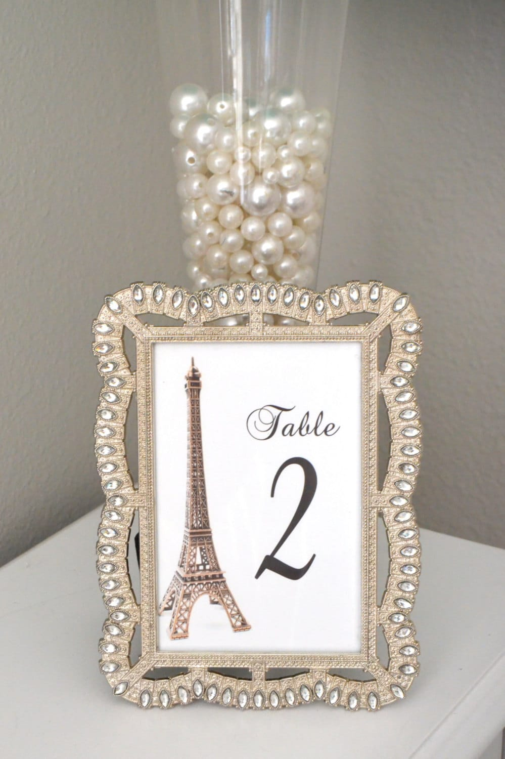 Eiffel tower table number parisians theme decor paris for Paris themed decor