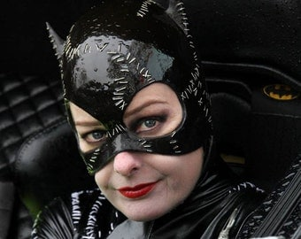 Catwoman Cowl - 1992 Batman Returns Inspired Catwoman Mask