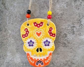 Dia de Muertos, sugar skulls, skull based ceramics