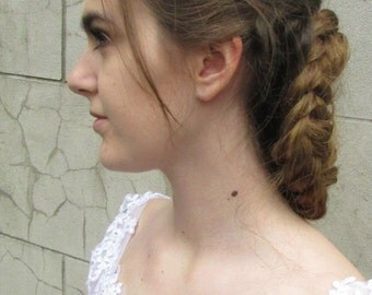 2x Silver Leaf Hair Clips Bobby Pins Bridal Vintage Grecian Roman Maple Boho A33