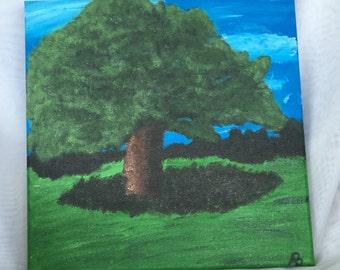 """Original Acrylic Painting """"The Big Tree"""""""
