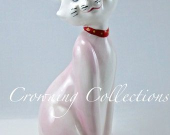 Enesco Duchess The Aristocats Disney Figurine Japan Ceramic Porcelain China Gazed 1968 Walt Disney Productions Cat RARE