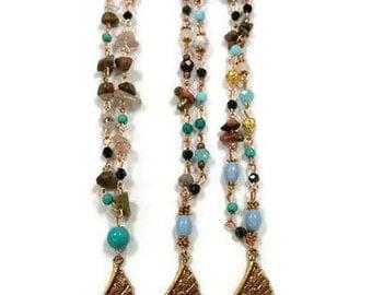 Best Friend Necklace For 3, Best Friend Necklace Set, Long Beaded Boho Necklace, Long Beaded Necklace, Beaded Boho Necklace, Long Necklace