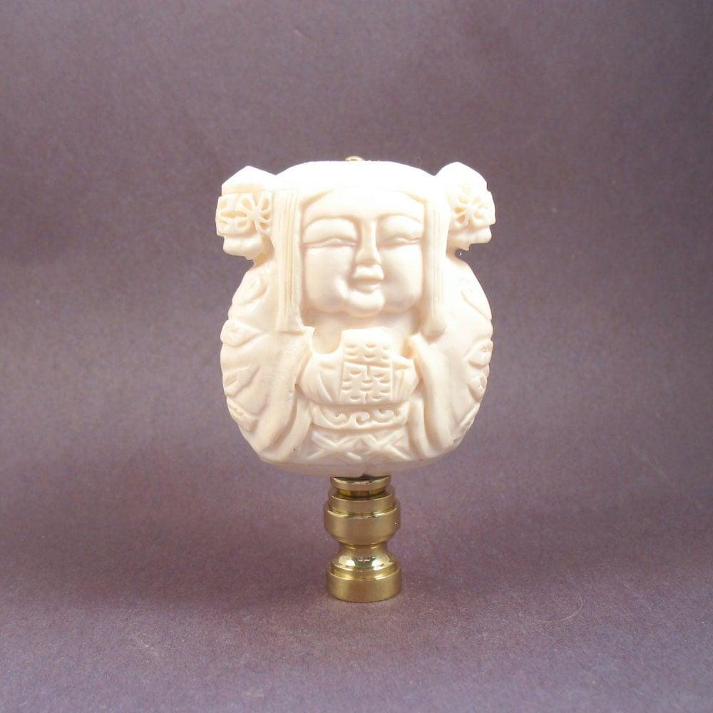Asian Princess Lamp Finial. Nice Detailed Carving. By LampFinials