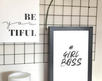 GIRL BOSS // Study Print, Office, Home Decor, Print, Motivational Quote