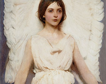 "Abbott Handerson ""Thayer Angel"" 1887 Reproduction Digital Print Beautiful Angel Religion Heaven"