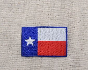 Texas State Flag - Lone Star State - Iron on Applique - Embroidered Patch