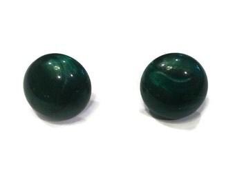 Stud Earrings - Green Stud Earrings - Green Bubble Stud Earrings - Gold Jewelry