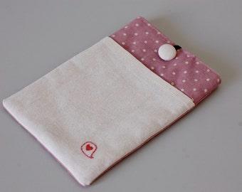 iPad Mini Case/ Kindle Paperwhite Cover/ Kindle Case/ Kindle Fire HD 6/ Nexus 7 Case/ Kindle Fire HD/ Kindle Voyage Sleeve -Pink polka