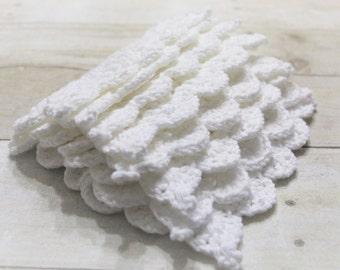 Crochet Dishcloth, White Cotton Washcloths, Crochet Dishcloths, Cotton Crocheted Washcloth, Crocheted Dishcloths,Hostess Gift, Ready to Ship