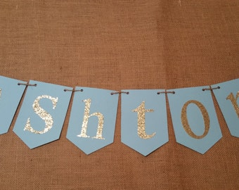name banner baby shower decor boy baby shower banner name sign baby shower sign baby shower decorations boy baby boy shower ideas - Baby Chair With Name