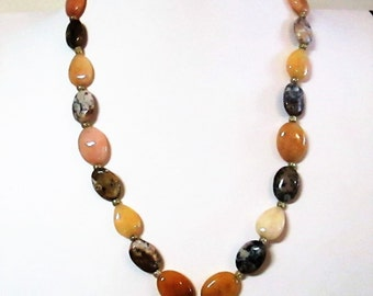 Honey Jade and Agate Necklace