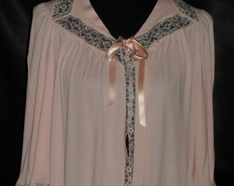 Elegant Pink Vintage Lorraine Acetate Bedjacket 36-38