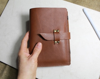 Kindle case - Kindle Voyage case - Kindle cover Handmade thick italian leather Ruggine colour - Handmade by Valentina