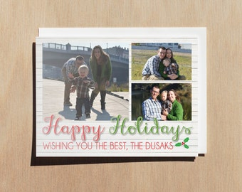 Happy Holidays Greeting Card // Printable Photo Card // Merry Christmas // Custom Photo Card // Christmas Gifts // Family Photo Card
