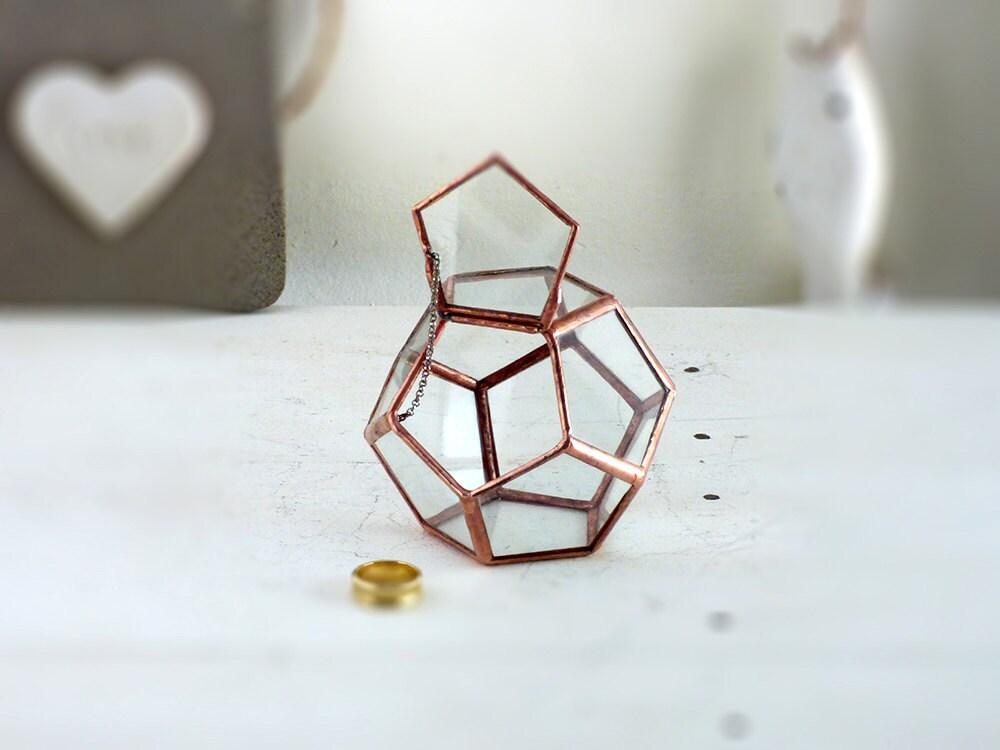 Wedding Ring Box Hinged Amp Lidded Geometric Dodecahedron