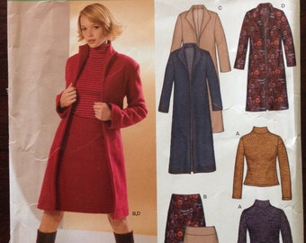 New Look 6317 - Stretch Knit Coat, Top and Skirt Collection - Size 10 12 14 16 18 20 22