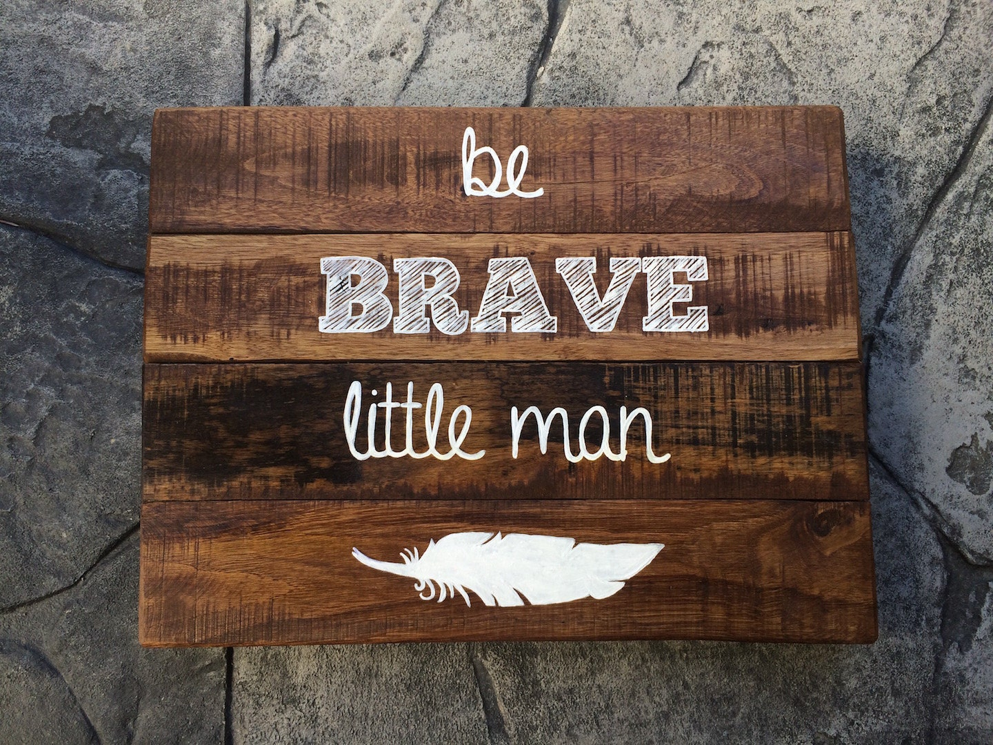 Be Brave Little Man Wood Sign Nursery Sign Baby Shower Baby