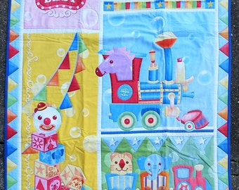 Baby Circus Crib-Sized Quilt
