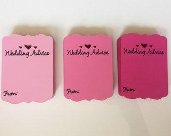 Wedding Advice Cards - Wedding Advice Jar - Bridal Shower Ideas- Wedding Guestbook Ideas