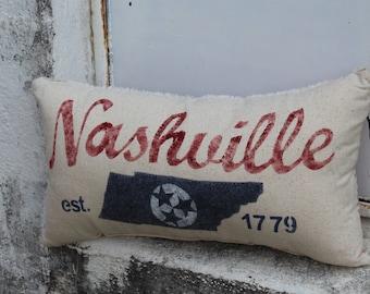 Nashville Pillow (cursive)
