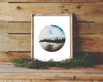 Circle Print, Landscape Photography, Sky Art, Nature Print, Nature Photography, Landscape, Printable Art, Wall Decor, Sky and Clouds Print