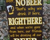 Beer Song- Wyoming Cowboys- Man Cave Decor- In Heaven No Beer- Gift For Him- Game Day Song- University of Wyoming - College Football