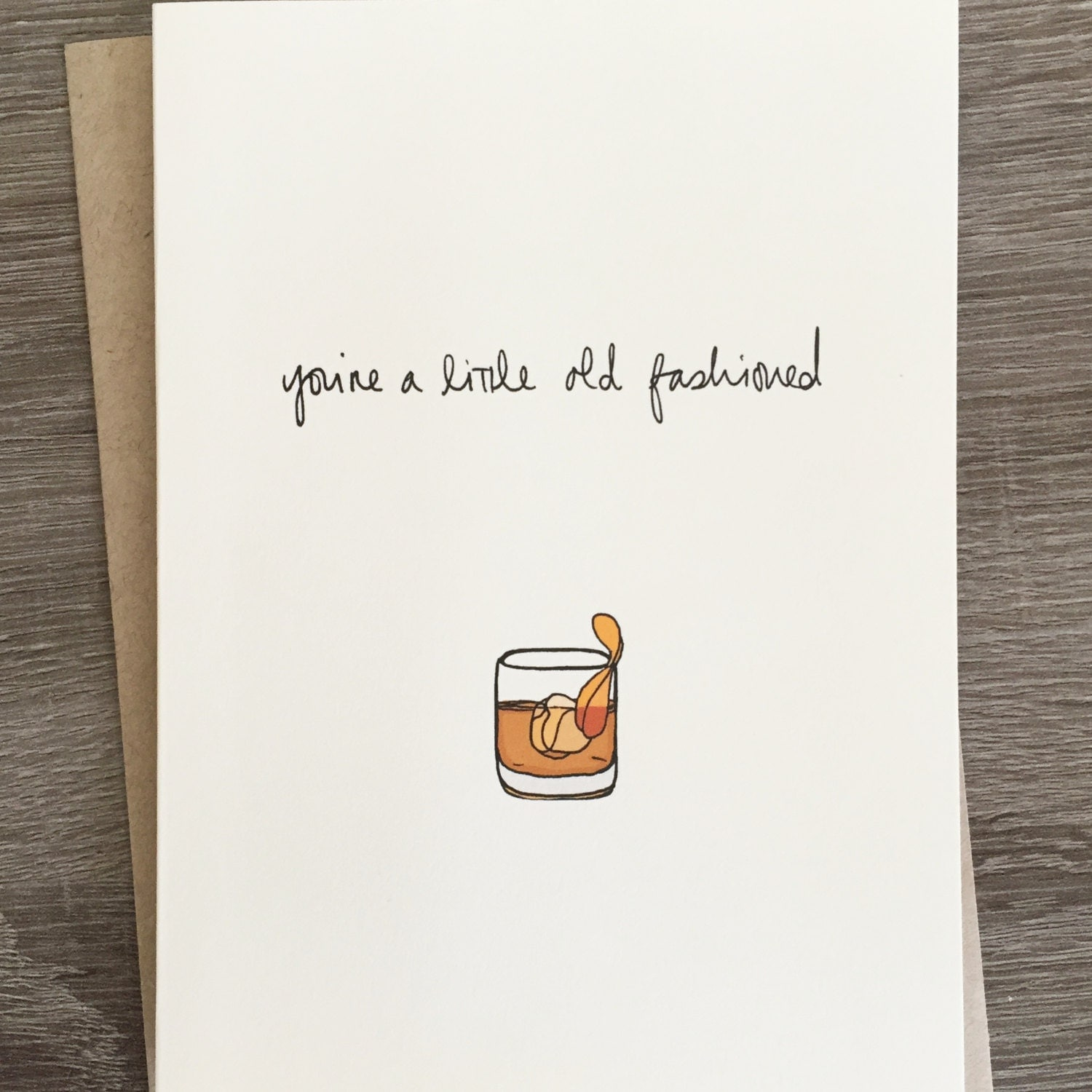 A Little Old Fashioned Cute Drinking Card Funny Birthday – Funny Birthday Card Puns