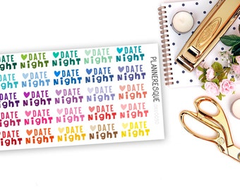 25 Date Night Stickers - T 0012