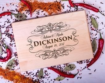 Housewarming gift cutting board Monogrammed Personalized cutting board Anniversary Wedding gift for Couple Custom Cutting Board Present