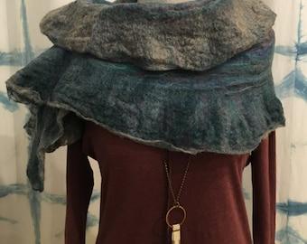 Wool Felted Boho Wrap
