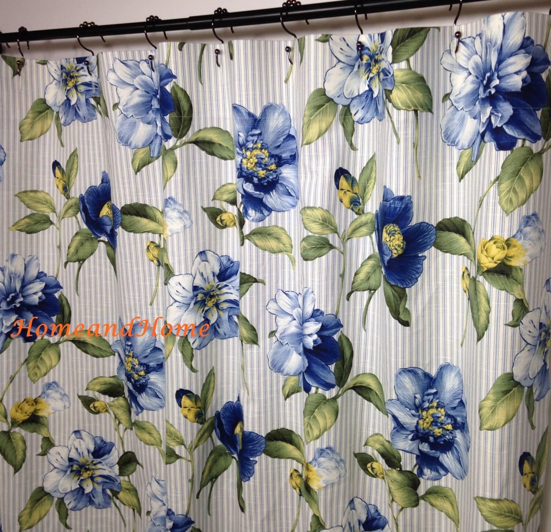 High End Custom Fabric Shower Curtain Robert Allen Promo