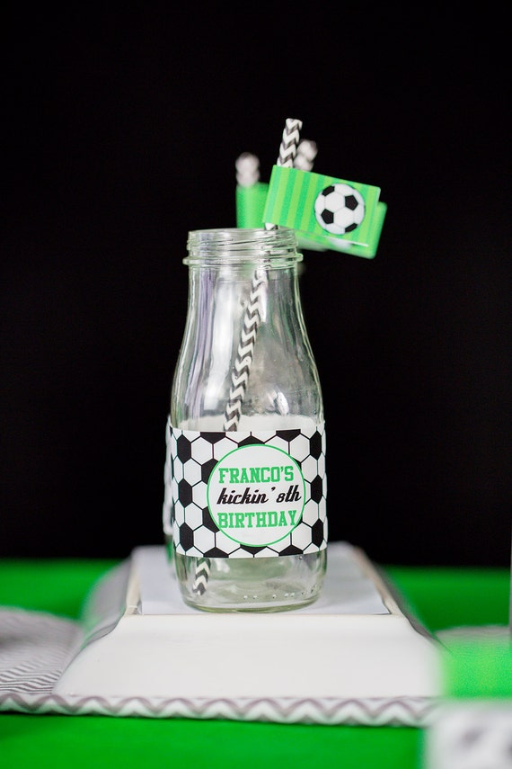 Soccer Party Water Labels