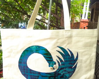 LIMITED EDITION Santi Baby Grown Up Tote/ Adinkra Symbol: Sankofa