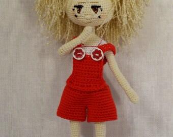 Doll Claire. Author doll. Amigurumi