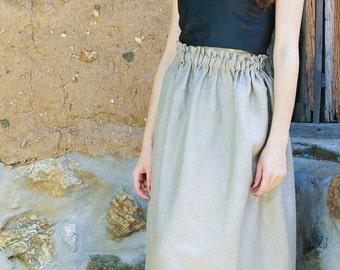 Linen skirt, women