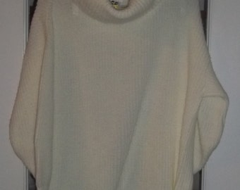 SALE Womens Vintage Cowl Neck Sweater XL