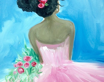 "Pretty in Pink, 16x20"" painting"
