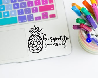 Pineapple Decal, Pineapple Sticker, Pineapple Car Decal, Car Window Decals, Vinyl Decals, Laptop Decals, YETI Cup Decals, Decals for YETI