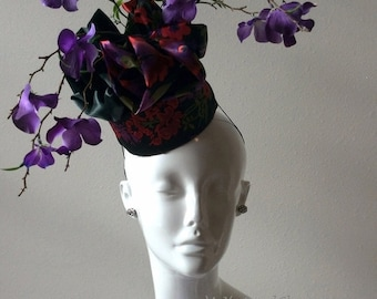 Silky Soul Singer Green and Purple Derby Hat