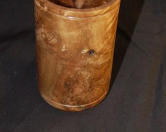 English walnut vase