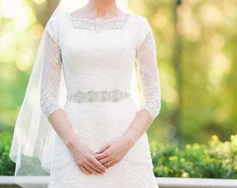 Crystal bridal belt - Wedding dress belt - bridal sash - rhinestone bridal belt - bridal belt - bridal dress belt -  bridal sashes and belts