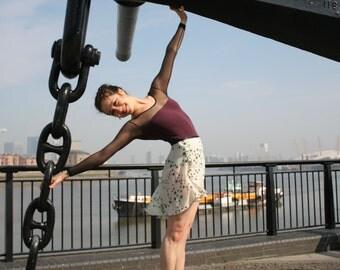 Ballet Wrap Skirt: Chain of rosettes