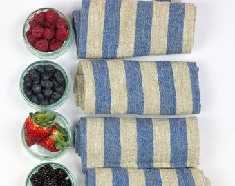 Set of 4 linen napkins, linen dinner napkins, rustic linen napkins, linen cloth napkins, natural linen napkins, softened linen napkins
