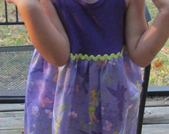 Tinker Bell Tank Top Dress - Size 3T - Ready to Ship