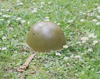 Military Helmet - Bulgarian Army Helmet - Vintage Steel Helmet - Post World War II Helmet - Cold War Helmet - Nar Mag
