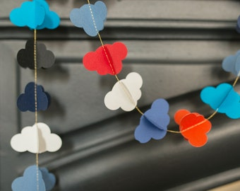 Paper Garland form clouds English touch'