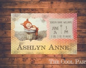 INSTANT DOWNLOAD -Birth announcement template-PHOTOSHOP