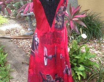 Star Wars Dress- Star Wars Slip Dress- Star Wars Comic Con Dress- Star Wars Cosplay Dress- Size Small to Medium